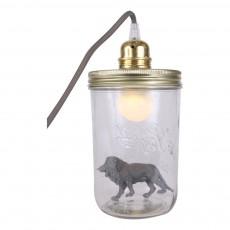 La tête dans le bocal Jar Lamp - Lion-listing
