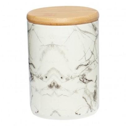 Hübsch Marble and Wooden Ceramic Jar -listing
