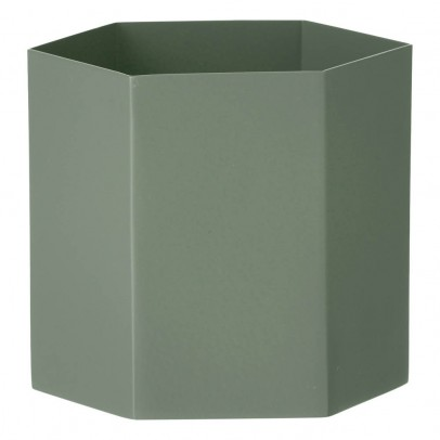 Ferm Living Recipiente Hexágono en metal Altura 12cm-product
