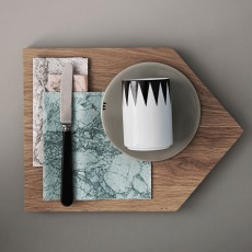 Ferm Living Serviettes en papier imprimé marbre - Set de 20-listing