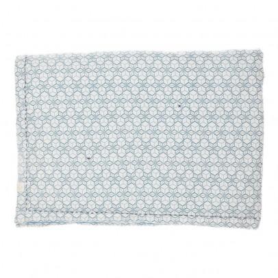 Camomile London Plaid Dash Star réversible 85x120 cm indigo/ivoire-product
