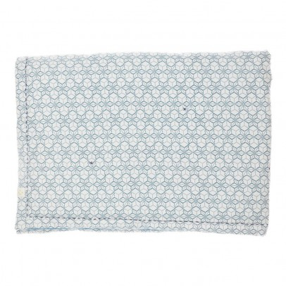 Camomile London Reversible Dash Star indigo/ivory plaid 85x120cm-listing