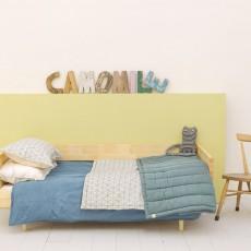 Camomile London Plaid Dash Star réversible 85x120 cm indigo/ivoire-listing