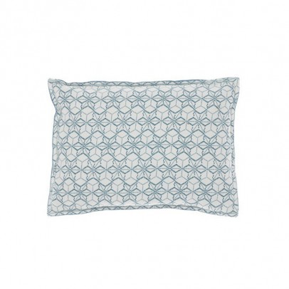 Camomile London Printed Dash Star Indigo on both sides Cushion 22x30cm-listing