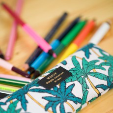Woouf Palm Trees Pencil case -listing