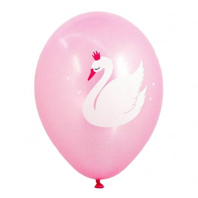 A little lovely company Metal Printed Cygne Balloons - Set of 6 -product