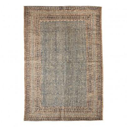 Madam Stoltz Alfombra de lana y yute estampado-listing