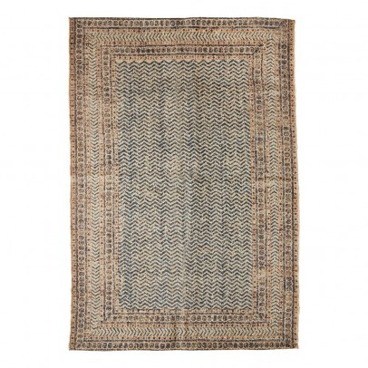 Madam Stoltz Teppich aus Wolle und Jute bedruckt-listing