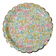 Meri Meri Liberty Poppy & Daisy Paper Plates - Set of 8-listing