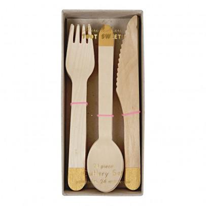Meri Meri Wooden Silverware - Set de 24-listing
