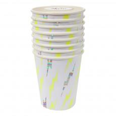 Meri Meri Vasos de cartón relámpagos - Set de 8-listing