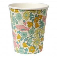 product-Meri Meri Pappbecher mit Muster Liberty Poppy & Daisy - 12 Stück