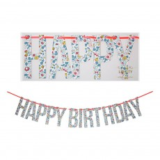 Meri Meri Guirlande Happy Birthday motif Liberty Betsy-listing