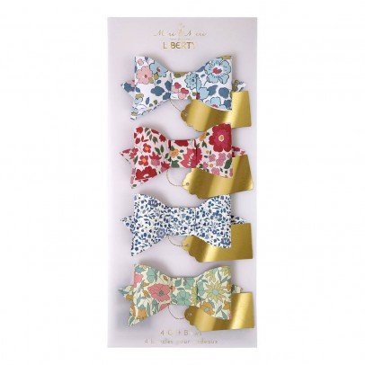 Meri Meri Patterned Decorative Liberty bow - Set of 4 -product