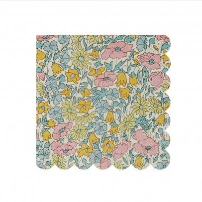 Meri Meri Serviettes en papier motif Liberty Poppy & Daisy - Set de 20-listing