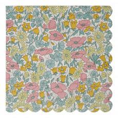 Meri Meri Patterned Liberty Poppy & Daisy Napkins - Set of 20-listing