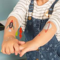 Meri Meri Temporary Space Tattoos - Set of 2-listing