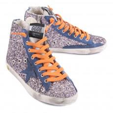 Golden Goose Francy Sequined Zip-Up Sneakers-listing