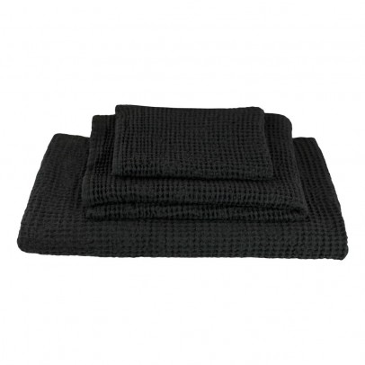 Numero 74 Set of 3 Honeycomb Towels - Charcoal gray -product