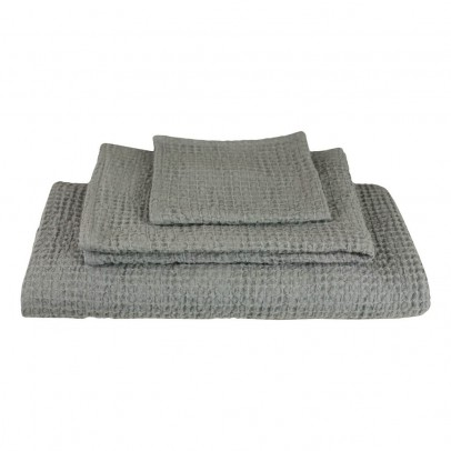 Numero 74 Set of 3 Honeycomb Towels - Gray-product