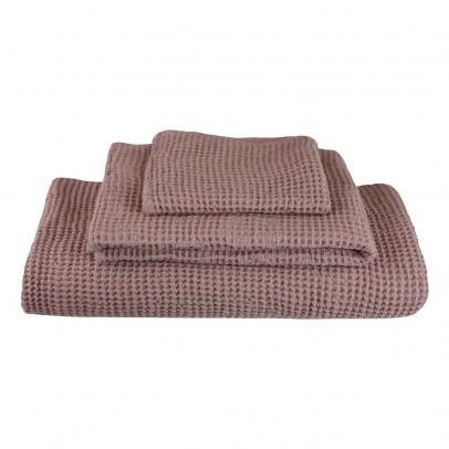 Numero 74 Set de 3 serviettes de toilette en nid d'abeille - Vieux rose-listing