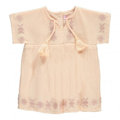 Moon et Miel Nora Embroidered Dress-listing