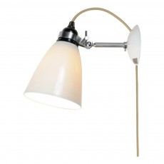 Original BTC Hector Dome wall lamp with plug, cable and switch-listing