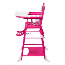 Combelle Chaise haute transformable - Laqué Fuschia-product