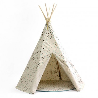 Nobodinoz Tipi Arizona triangles noir vert-listing