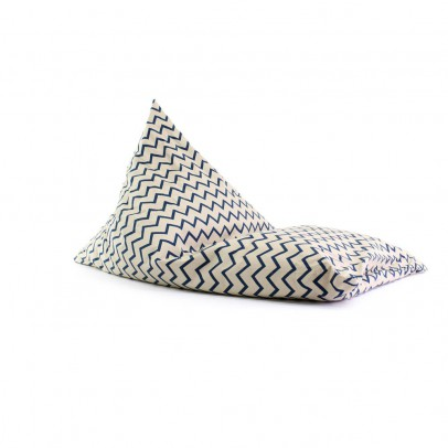 Nobodinoz Essaouira long cotton pouf with zig zag patterns-listing