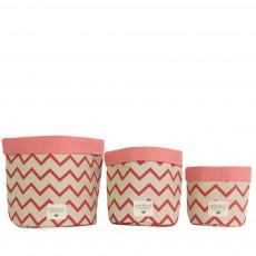 Nobodinoz Mambo basket with zig zag patterns-listing