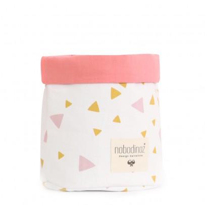 Nobodinoz Korb Mambo mit rosafarbenen und gelben Dreiecken-listing
