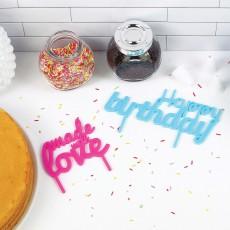 DOIY Bannières pour gâteau - Set de 2-listing