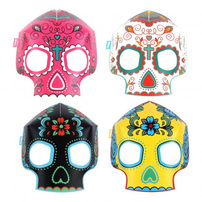 DOIY Masques fluorescents en papier tête de mort - Set de 8-listing