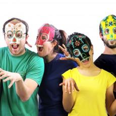 DOIY Máscaras fluorescentes en papel calavera - Set de 8-listing