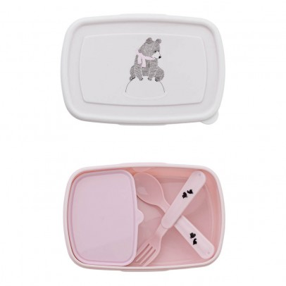 Bloomingville Kids Lunch box with cutlery -listing