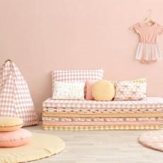 Nobodinoz Colchón triángulos rosa amarillo-product