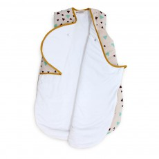 Nobodinoz Montreal Baby sleeping bags with black and green triangles-listing
