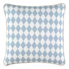 Nobodinoz Coussin en coton garni carré losanges-listing