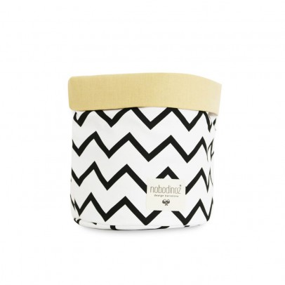 Nobodinoz Mambo basket with zig zag patterns-listing