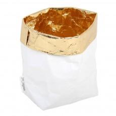 Essent'ial Beutel - weiß/goldfarben-listing