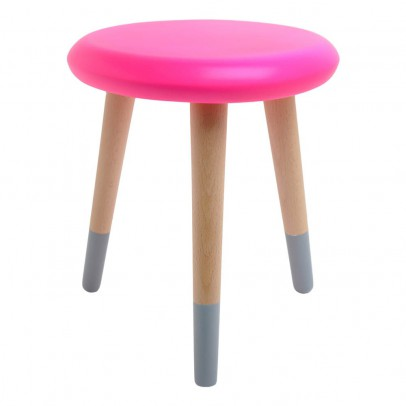 Rose in April Alice Neon Pink and Gray Stool-listing