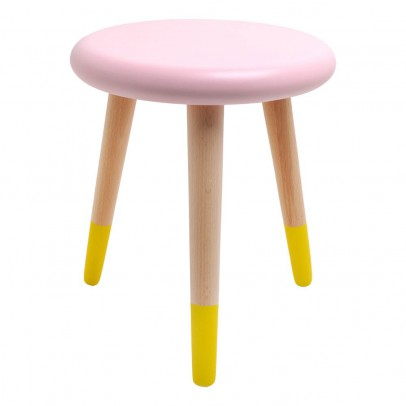 Rose in April Alice Light Pink and Yellow Stool-listing