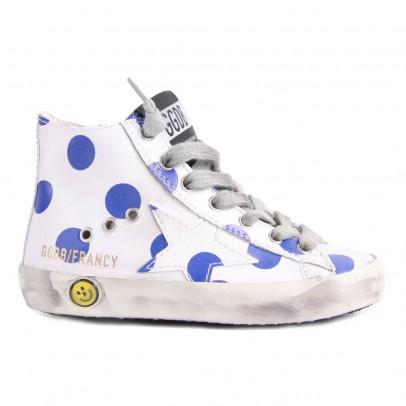 Golden Goose Francy Polka Dot Zip-Up Sneakers-listing