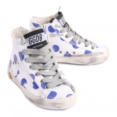 Golden Goose Francy Polka Dot Zip-Up Sneakers-listing