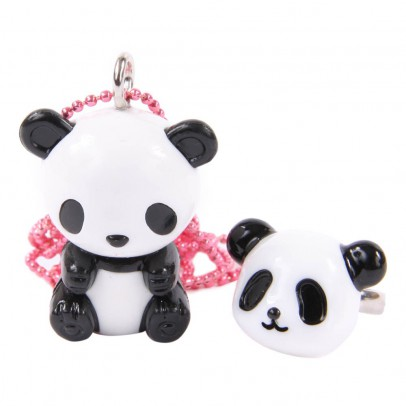 Pop Cutie Panda Necklace and Ring-listing