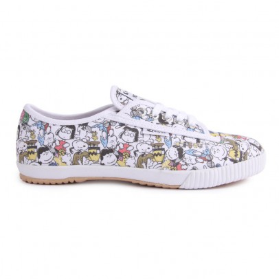 Baskets Toile à Lacets Peanuts All Over Snoopy