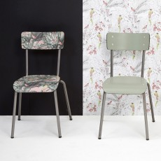 Les Gambettes Suzie chair for grown-ups with natural legs - Printed Jungle-listing