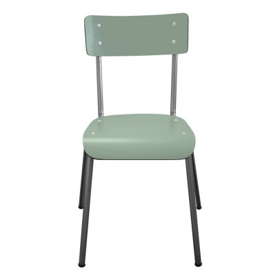 Les Gambettes Chair for grown-ups Suzie with natural legs - Khaki green  -listing