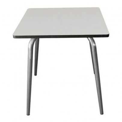 Les Gambettes Vera table 70x70 cm with natural legs - Gray-listing